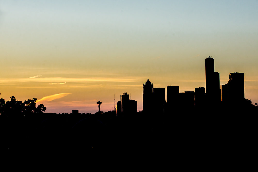 Skyline at sunset